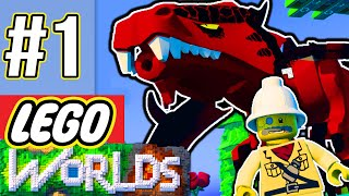 LEGO Worlds #1 | Minecraft Remade with LEGOS!? (Dragons, Guns, & More!) - LEGO Worlds Gameplay