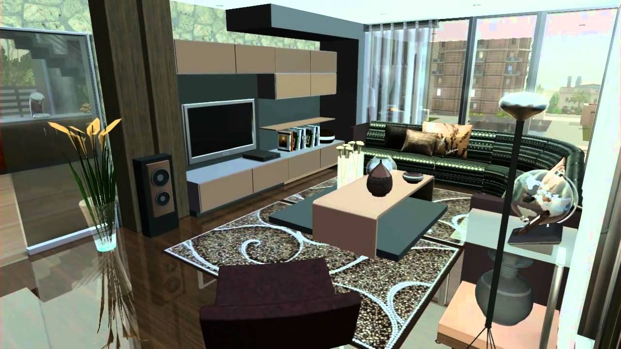 Sims 3 house design vr 3 hillwood youtube for Sims interior designs 1