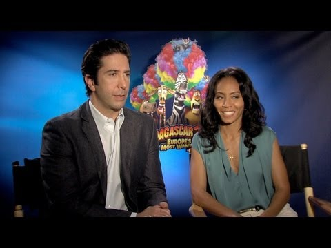'Madagascar 3' David Schwimmer & Jada Pinkett Smith Interview