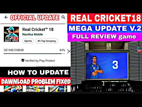 Real Cricket 18 Mega Update V.2 Full Review game |Fire works Top Features | How to update game