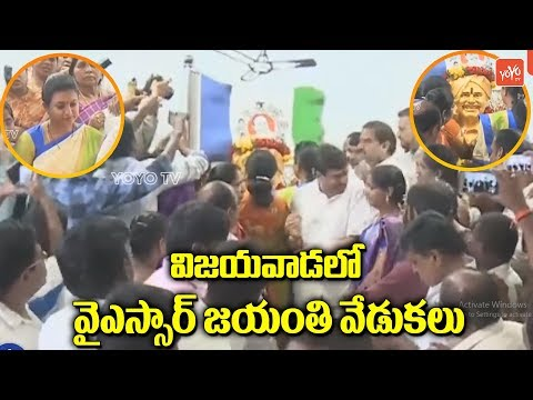 YSRCP's YSR 69th Jayanthi Celebrations @ Vijayawada | MLA Roja | YS Jagan | YOYO TV Channel