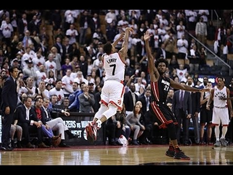 Kyle Lowry Sends it to Overtime with the Half-Court Buzzer Beater!!
