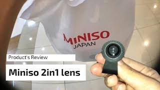 Miniso 2 in 1 Mobile Phone Lens Unboxing | Product Review (Q&A) | My Rating System |  English Sub
