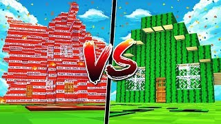 TNT MINECRAFT HOUSE VS CACTUS MINECRAFT HOUSE!