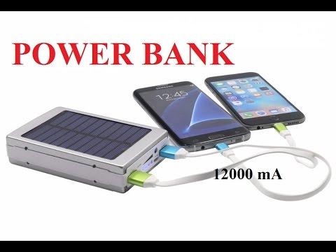 Обзор Power Bank с солнечной панелью / внешний аккумулятор на 12000 mAh