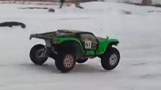 1/5 R/C car models on snow track