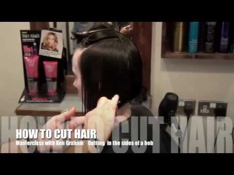 Demonstration on Cutting a Steep Angled Bob by Ken Graham Hairdresser