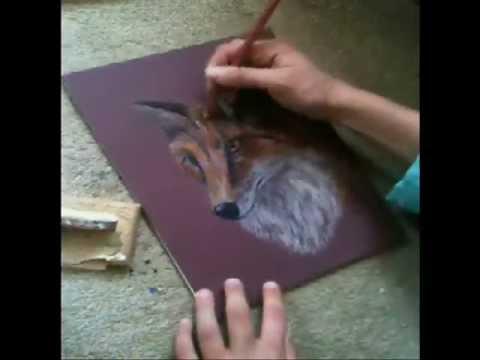 Fox Pencil Drawing Fox Speed Drawing Pastel