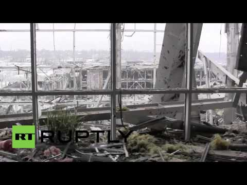 Ukraine: See the DESTROYED Donetsk Airport now under DPR control