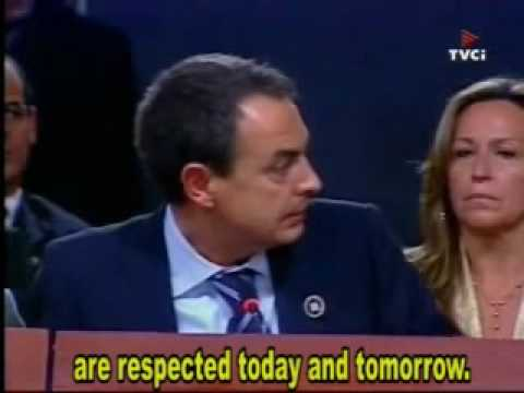King Juan Carlos to Chávez: Shut up ENGLISH SUBTITLES