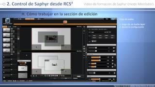 Saphyr - SPX450 Video de formación: modo Mezclador