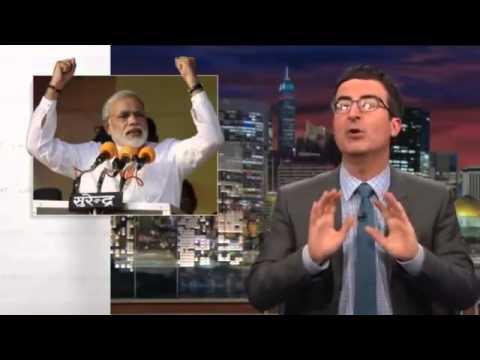 John Oliver On Indian Elections 2014 - Narendra Modi Vs Rahul Gandhi
