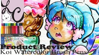 Art Supply/Product Review, Sakura Koi Watercolor Brush Pens - 24 Color Set (+Speed Paint)
