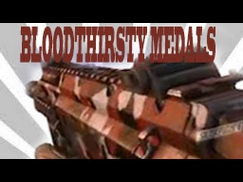 Black Ops 2 - How To Get Bloodthirsty Medals (Gun Camos)