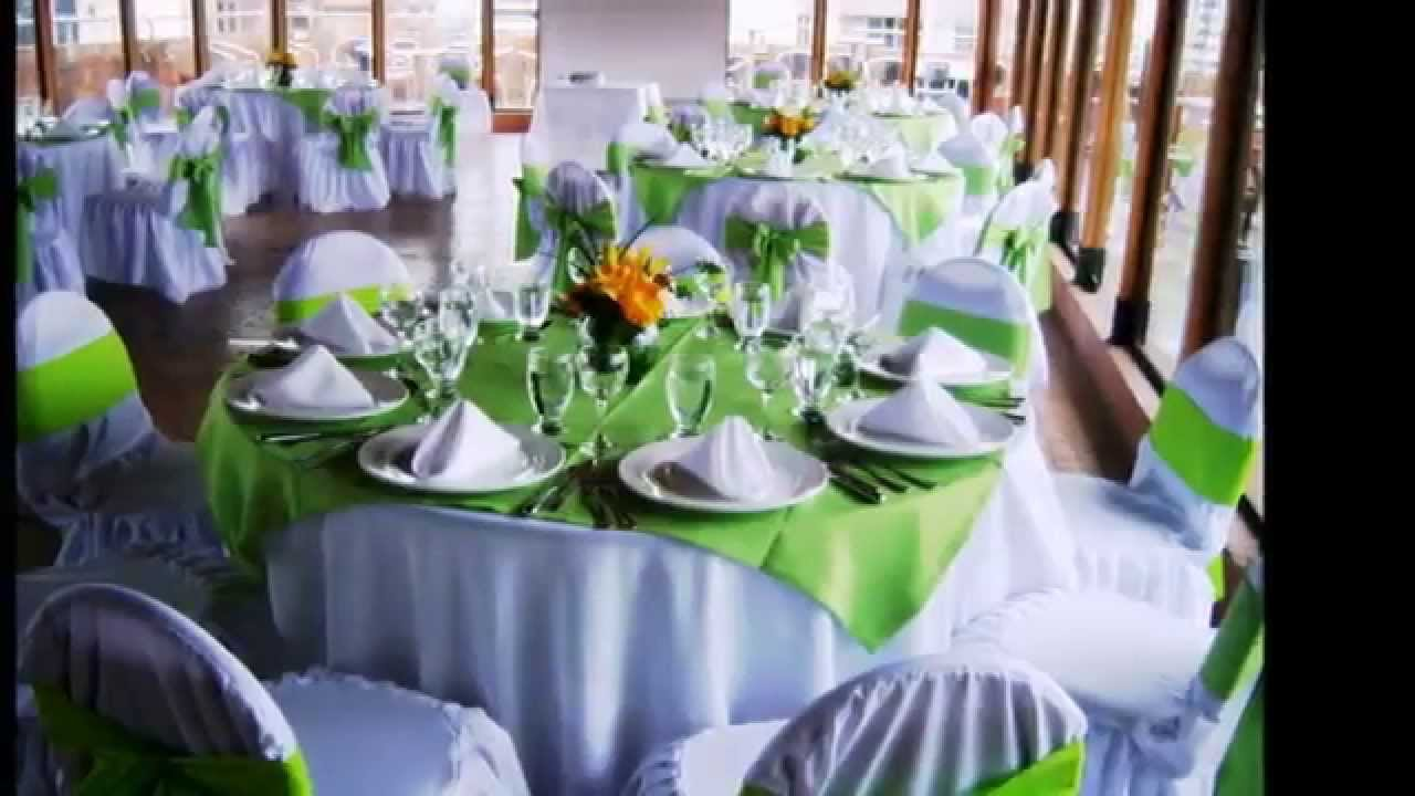 Como decorar mesas fiestas youtube for Mesas plegables para eventos