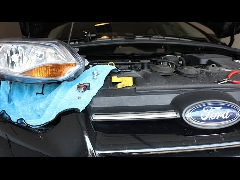 Ford Focus Headlight Removal and Bulb Replacement - Mk3 Third Gen (2011 - present)