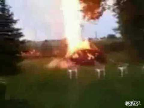 Dude Blows Up His Backyard