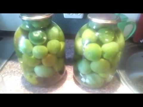 Приготовление вкусных зелёных помидоров как в СССР