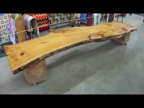 How To Make An Easy Tree Bench - YouTube