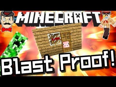 Minecraft BLAST PROOF HOUSES Mod!