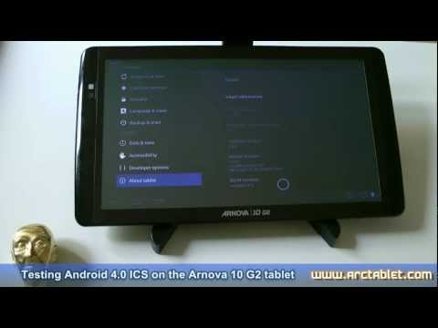 Android 4.0.4 ICS custom firmware for Arnova 10 G2 (alpha grade)