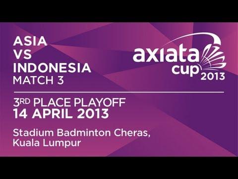 3rd Place Playoff - XD - A.Ponnappa/T.Kona (ASIA) vs D.Susanto/M.Rijal (INA) - Axiata Cup 2013