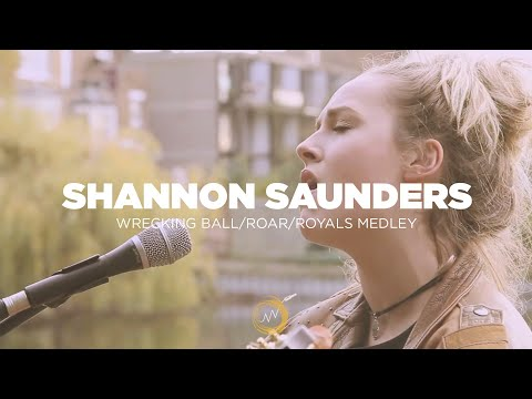 Naked Noise: Shannon Saunders -  Medley Of wrecking Ball, roar And royals video
