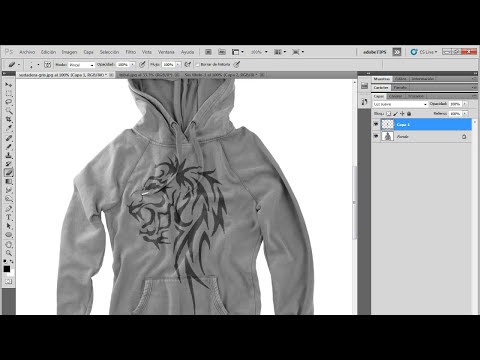 Tutorial Photoshop // Poner un estampado a tu sudadera!