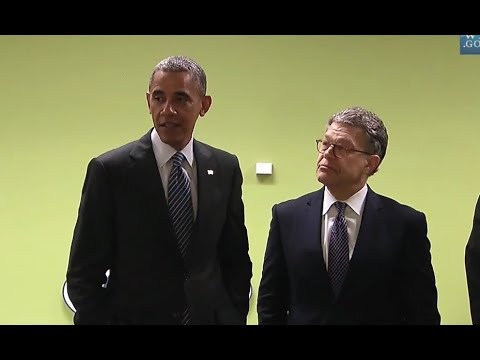 Pres. Obama & Sen. Franken Visit