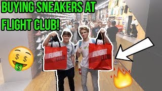 BUYING RARE SNEAKERS AT FLIGHT CLUB NYC!!