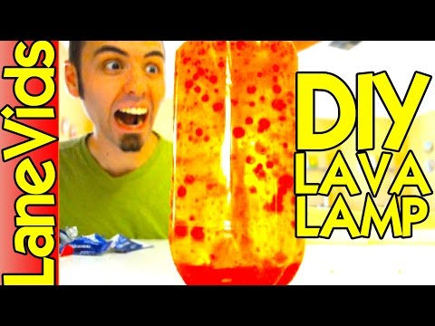 HOW TO MAKE A HOMEMADE LAVA LAMP!!!