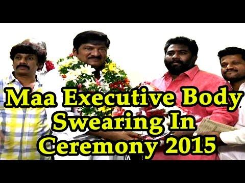 Maa Executive Body Swearing In Ceremony 2015 || Rajendra Prasad || Nagendra Babu || 2015