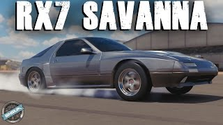 AWD 4 Rotor Mazda RX-7 Savanna || DRAG BUILD || Forza Horizon 3 (Alpinestars Pack)