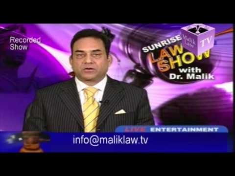 Maliklaw TV (Dr Malik Law Show 54)