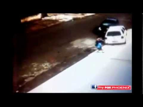 Mother And Son Run Over In Car Crash video