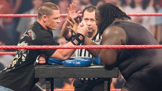 John Cena vs Mark Henry Arm Wrestling Contest Raw Feb 4 2008