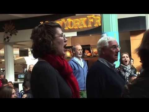 Christmas Food Court Flash Mob with Hallelujah Chorus of G.F. Handel