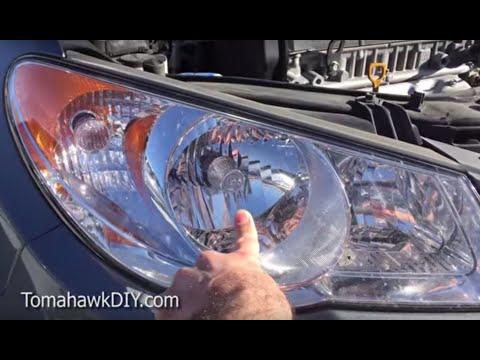 Replace Head Light / Head Lamp- Hyundai (2 easy ways)