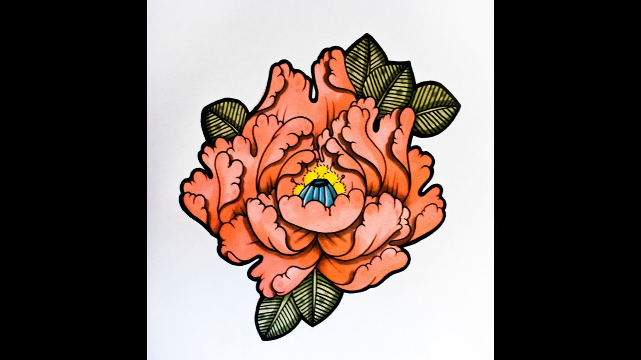 To Draw A Flower Japanese Tattoo Style By Thebrokenpuppet YouTube