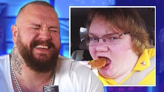 TRUE GEORDIE REACTS TO FOOD REVIEWER (compilation)