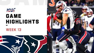 Patriots vs. Texans Week 13 Highlights  NFL 2019