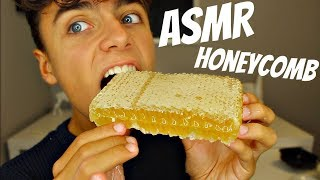 I Tried ASMR RAW HONEYCOMB EATING (Extremely Sticky Sounds)
