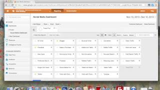 Simple social media dashboard and reports in Google Analytics