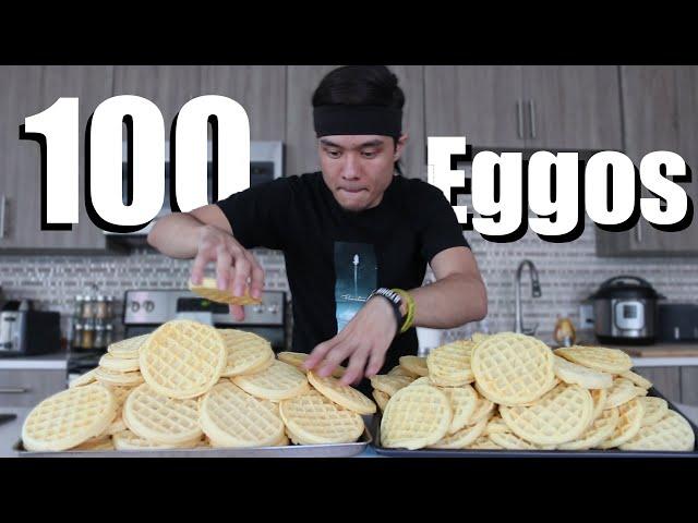 100 Eggo Waffle Challenge DESTROYED thumbnail