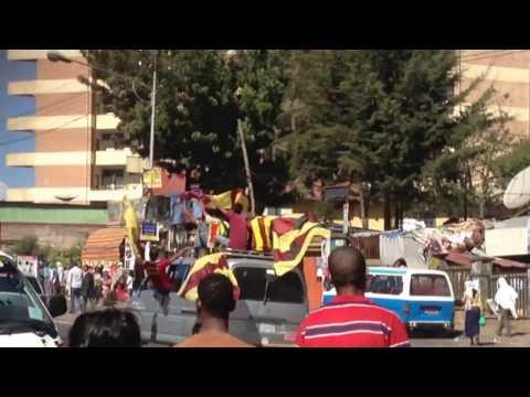 Ethiopia Bunna Football Fans Celebrating