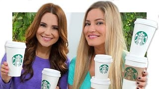 Starbucks Challenge with Ro! | iJustine