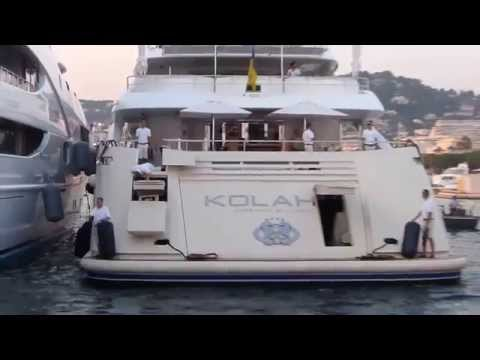Superyacht Kolaha entering Port Pierre Canto Cannes