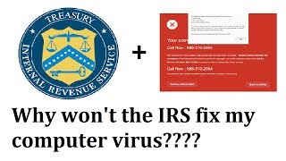 Fake IRS Scam - Whoops, I got my fake tech support and my fake IRS scams mixed up!