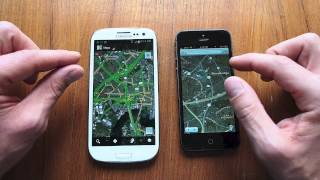 iPhone 5 vs. Galaxy S3 maps test