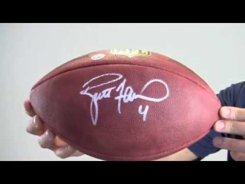 Brett Favre Autographed Football - NFL Game Ball - Favre Holo